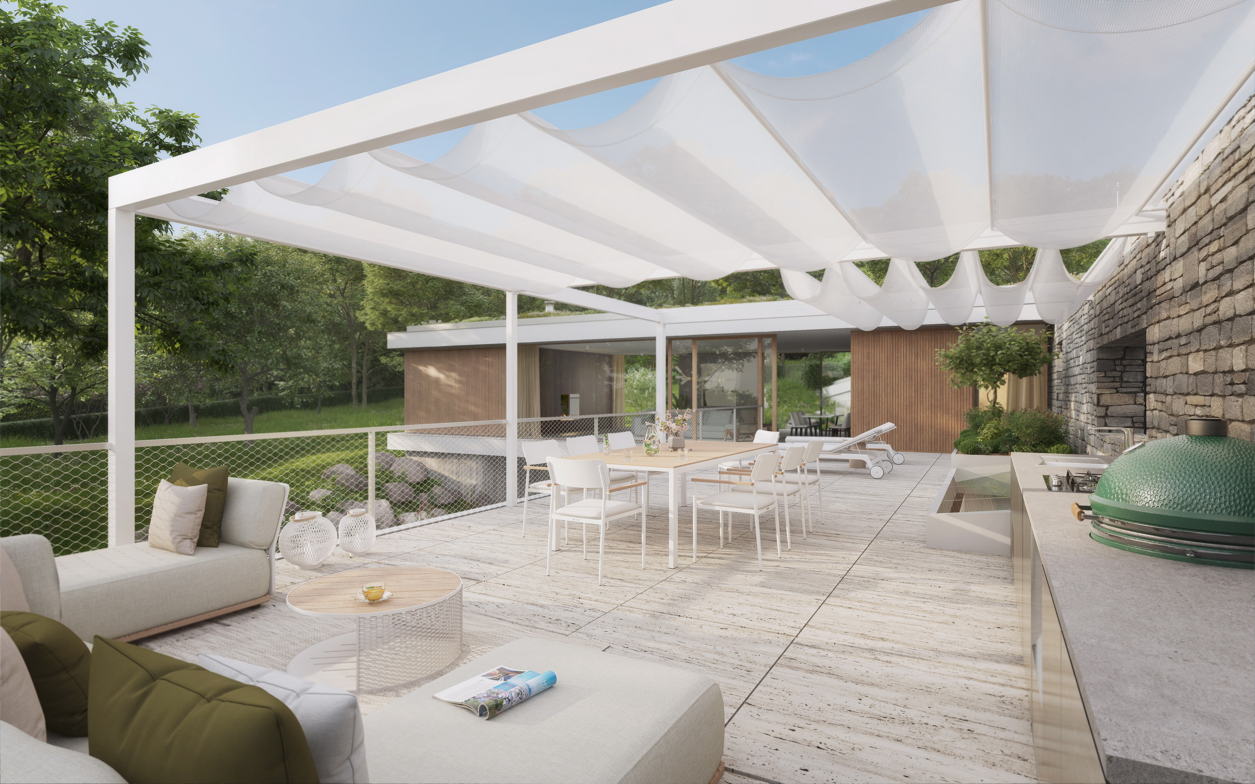 Magnificent terraces and outdoor spaces full of privacy
