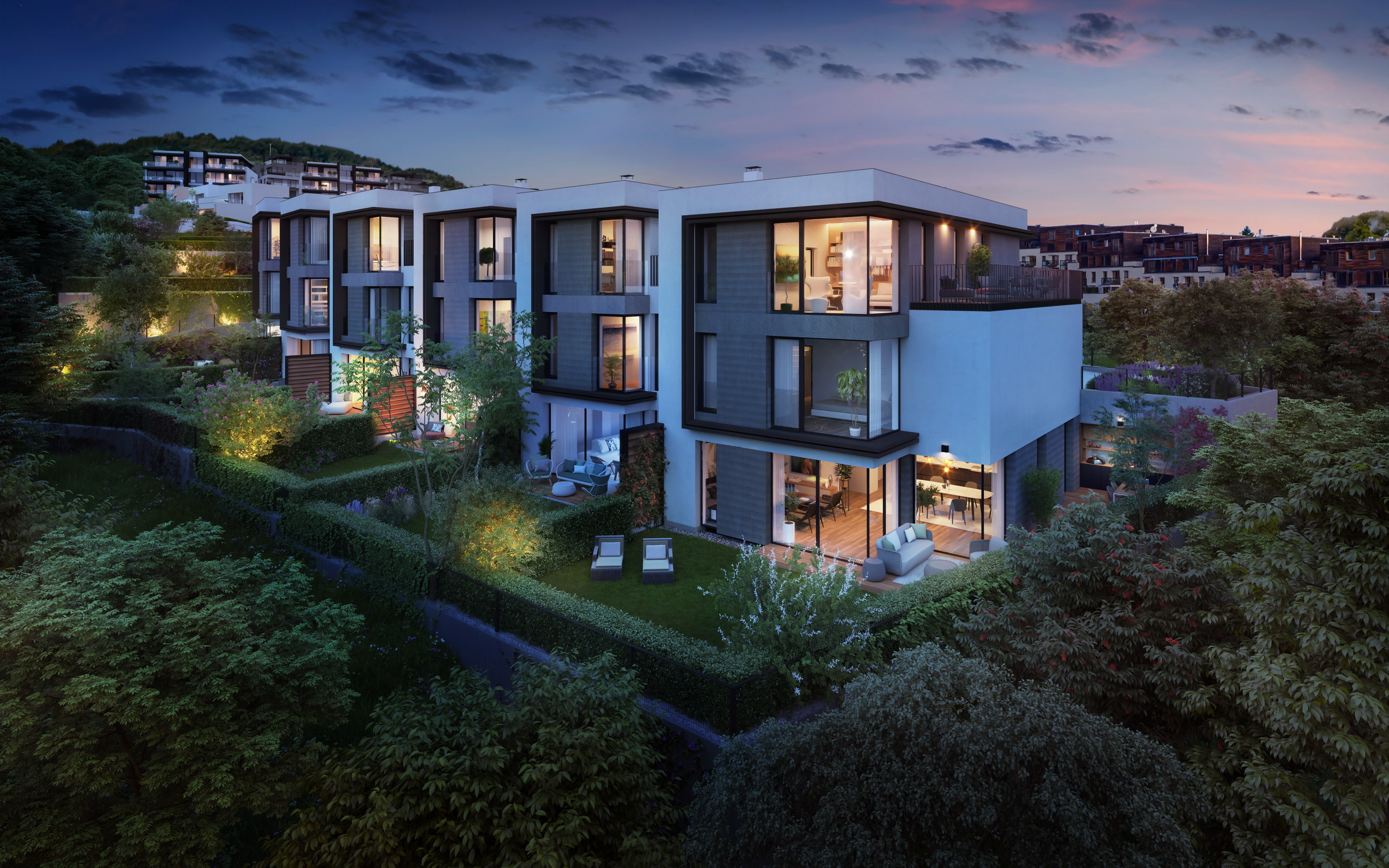 NEW TOWN HOUSES IN STAGE 2<br><b>EXEPTIONAL LIVING IN PRAGUE 5
